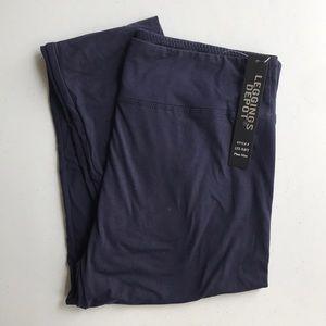 leggings depot Pants - Plus size navy leggings